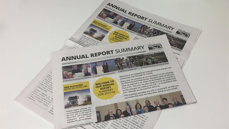 Waikato District Council Annual Report Summary 2017-18