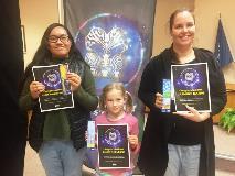 Bookmark winners: Reese Daniel-Hoani, Riley McLeod, Jasmine Dahm