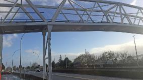 Damaged Huntly footbridge