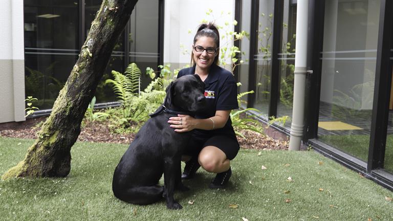 Kohe with Waikato District Council's Zoey Jackson