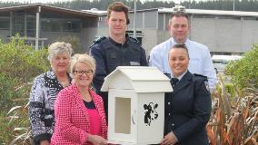 Little library presented to Council staff at Spring Hill Corrections Facility 018