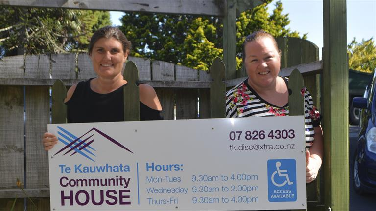 Te Kauwhata Community House manager Jo Mako (right) with Lauren Hughes