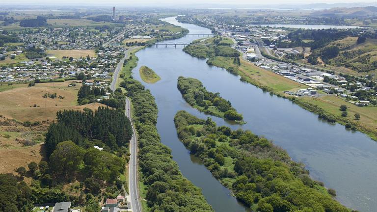 Waikato River at Huntly