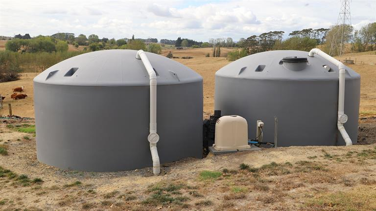 Water tanks getting low
