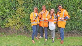 Council staff get ready for working bee