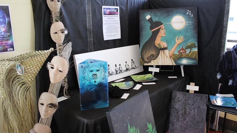 Matariki Travelling Suitcase Art Exhibition