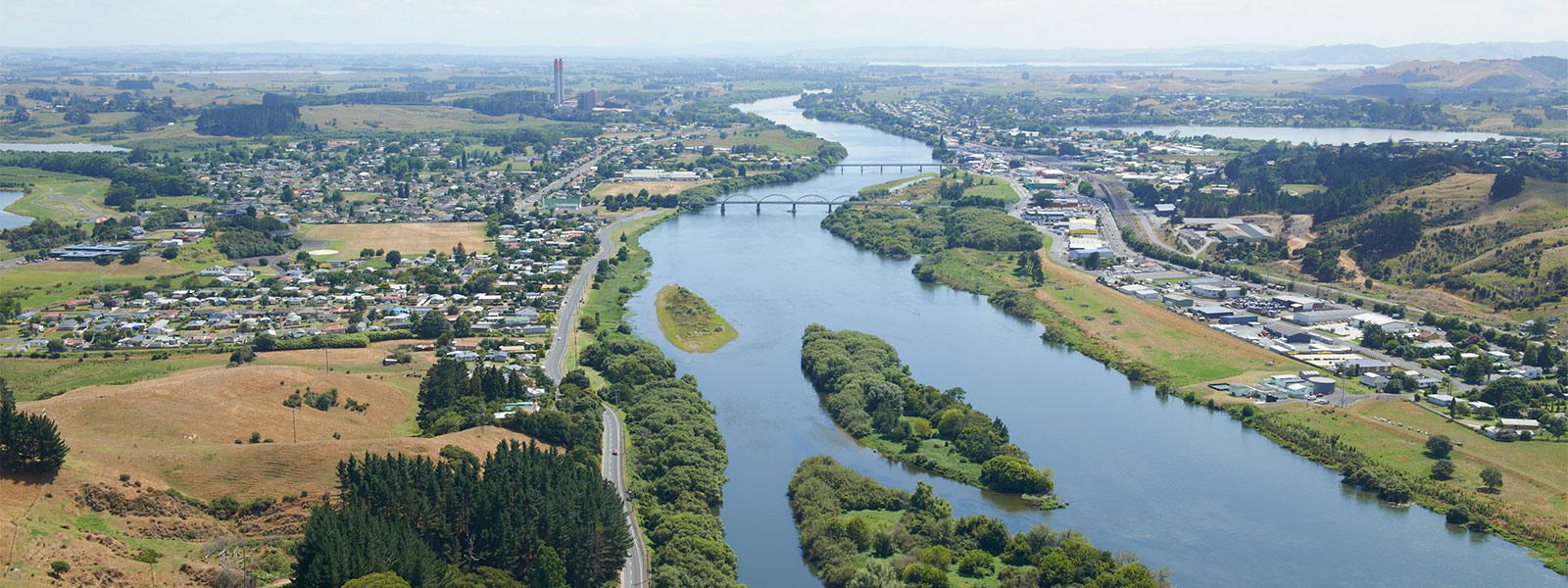 The view of Huntly from above