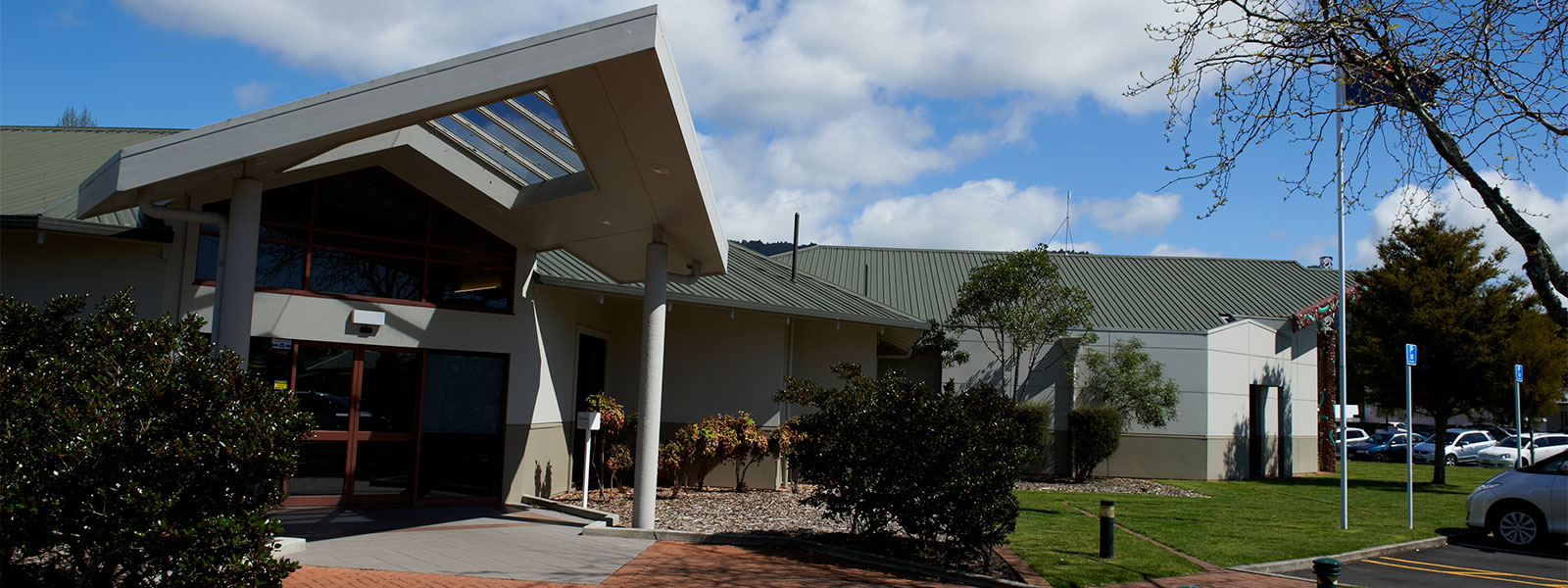 The outside of the Waikato District Council Ngaruawahia office